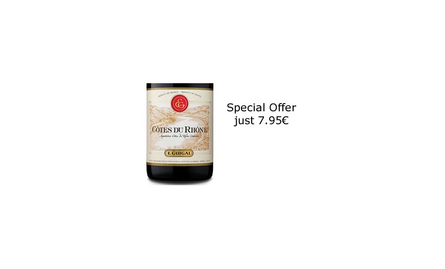 Special offer on  Côtes du Rhône Red by E. Guigal